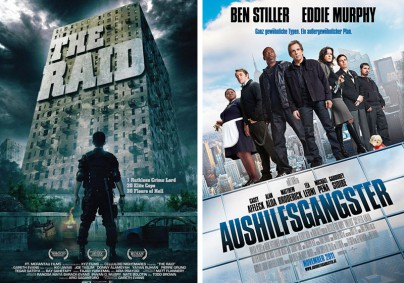 """Filmplakat zu """"The Raid"""" und """"Aushilfsgangster"""""""