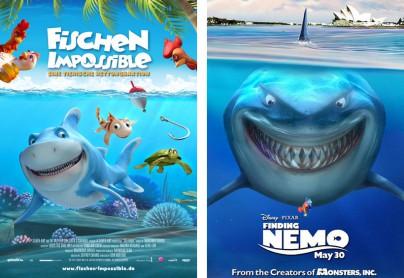 """Filmplakate zu """"Fischen Impossible""""und """"Findet Nemo"""""""