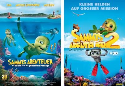 """Filmplakate zu """"Sammys Abenteuer"""" und """"Sammys Abenteuer 2"""""""