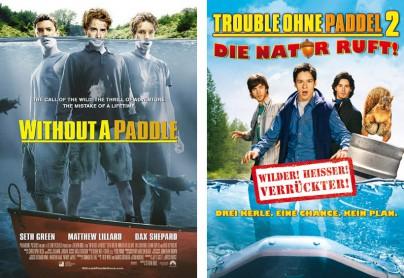 """Filmplakat zu """"Trouble ohne Paddel"""" und """"Trouble ohne Paddel 2"""""""