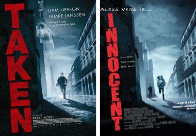 """Filmplakate zu """"Taken"""" und """"Innocent"""""""