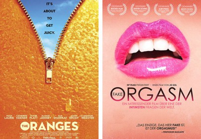 "Filmplakate zu ""The Oranges"" und ""Fake Orgasm"""