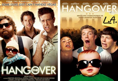 "Filmplakate zu ""Hangover"" und ""Hangover in L.A."""
