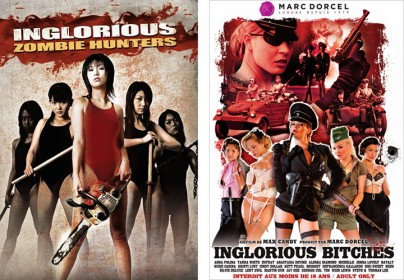 "Filmplakate zu ""Inglorious Zombie Hunterr"" und ""Inglorious Bitches"""