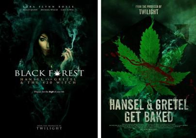 """Filmplakate zu """"Black Forest"""" und """"Hansel & Gretel Get Baked"""""""