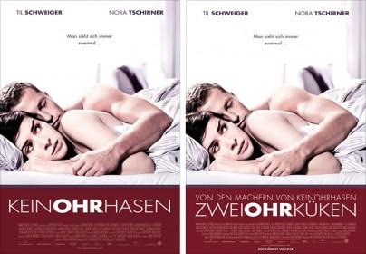 """Filmplakate zu """"Keinohrhasen"""" und """"Zweiohrkücken"""""""