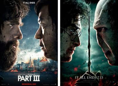 "Filmplakate zu ""Hangover 3""und ""Harry Potter"""