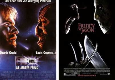 "Filmplakate zu ""Enemy Mine"" und ""Freddy vs. Jason"""