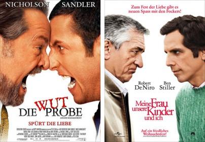 """Filmplakate zu """"Die Wutprobe"""" und """"Meine Frau, unsere Kinder und ich"""""""