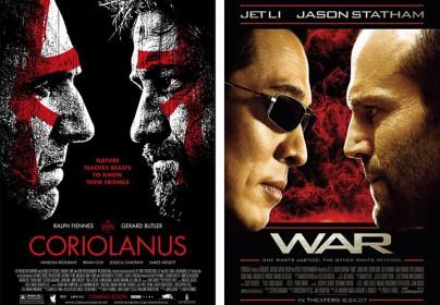"""Filmplakate zu """"Coriolanus"""" und """"War"""""""