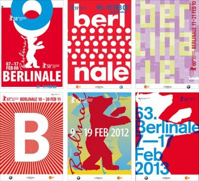 Plakate der Berlinale 2008 bis 2013