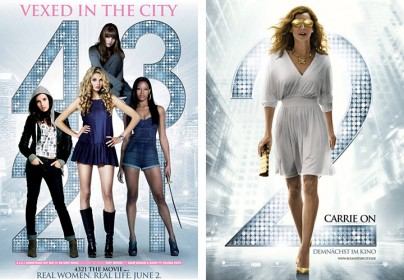 "Filmplakate zu ""4.3.2.1"" und ""Sex and The City 2"""