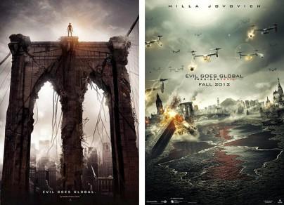 """Filmplakate zu """"Resident Evil: Retribution"""","""