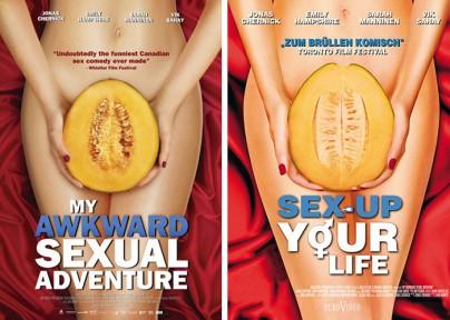 """Amerikanisches und deutsches Plakat zu """"My Awkward Sexual Adventure"""""""