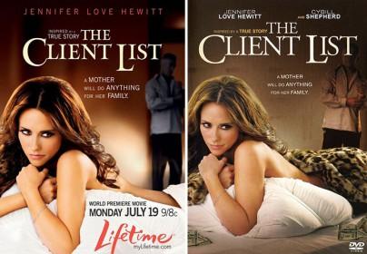 """Plakat und DVD zu """"The Client List"""""""