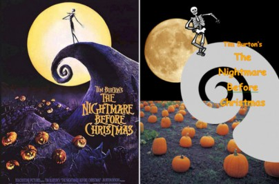 "Filmplakat zu ""Nightmare before Christmas"""