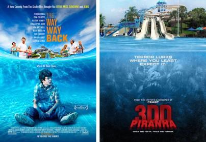"""The Way, Way Back""  vs. ""Piranhas 2"""