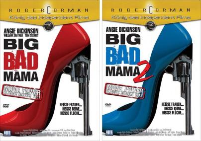 "DVD-Cover zu ""Big Bad Mama"" und ""Big Bad Mama 2"""