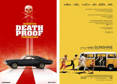 "Filmplakate zu ""Death Proof"" und ""Little Miss Sunshine"""