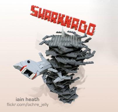 """Sharknado"" aus Lego"