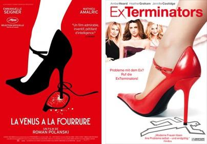 """Filmplakate von """"Venus im Pelz"""" und """"ExTerminators"""""""