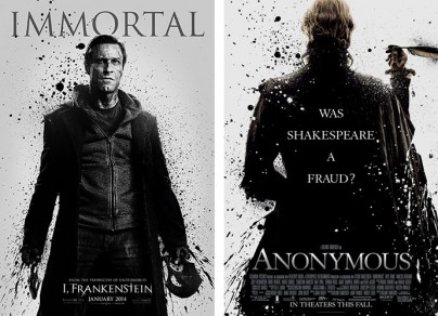 """Filmplakate von """"I, Frankenstein"""" und """"Anonymous"""""""
