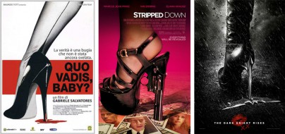 "Filmplakate von ""Quo Vadis, Baby?"", ""Stripped Down"" und ""The Dark Knight Rises"""