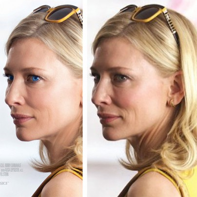 Cate Blanchett im Vergleich