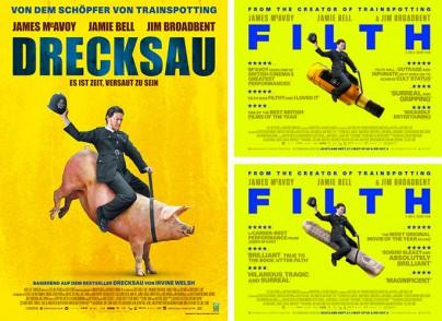 "Filmplakate zum Film ""Drecksau"" (Filth)"