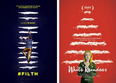 """Filmplakate zu """"Filth"""" und """"White Reindeer"""""""