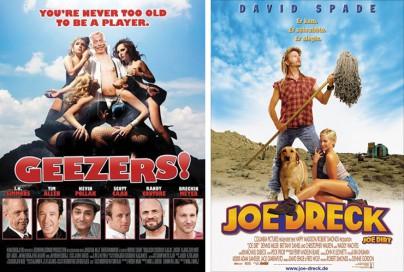 """Filmplakate zu """"3 Geezers!"""" und """"Joe Dreck"""""""