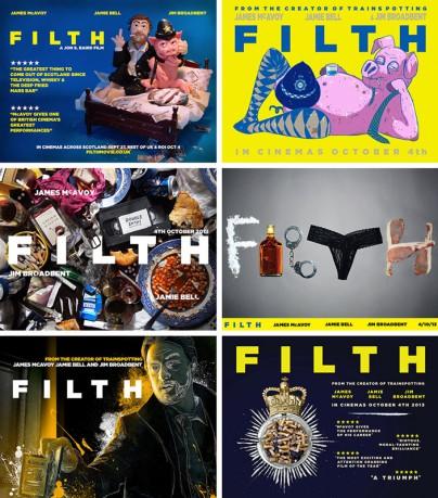 """Einige Teilnehmer vom """"Filth""""-Plakatwettbewerb"""