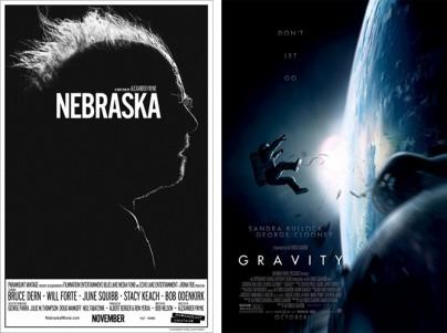 """Die Filmplakate von """"Nebraska"""" und """"Gravity"""""""