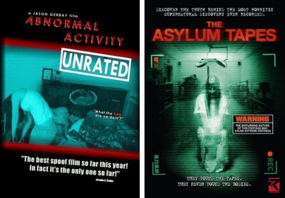 "Filmplakate zu ""Abnormal Activity"" und ""The Asylum Tapes"""