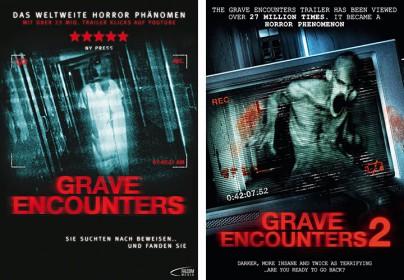 "Filmplakate zu ""Grave Encounters"" und ""Grave Encounters 2"""