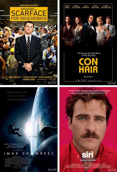 Filmplakate, die die Wahrheit sagen.