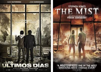 """Filmplakate zu """"Los últimos días"""" und """"The Mist"""""""