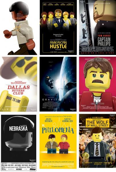 Die Oscar-Kanditaten aus Lego