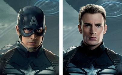 Captain America mit und ohne Maske