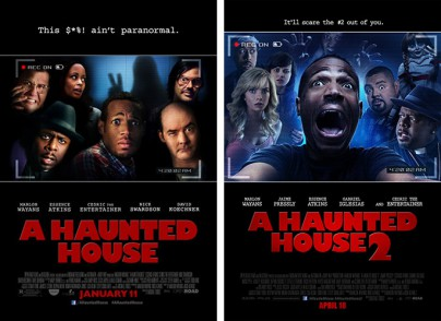 "Filmplakate zu ""A Haunted House"" 1 + 2"