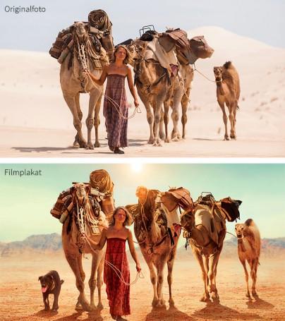 Vergleich Foto und Plakat