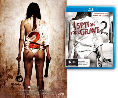 I Spit on Your Grave Frightfest-Plakat und Blu-Ray