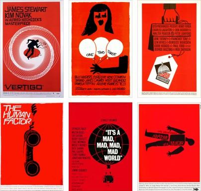 Rote Plakate von Saul Bass