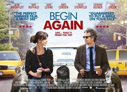 """Britisches Plakat zu """"Begin Again"""""""