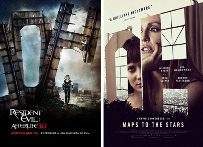 """Resident Evil: Afterlife"" vs. ""Maps to the Stars"""