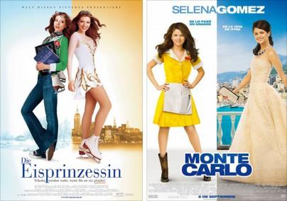 """Filmplakat zu """"Die Eisprinzessin"""" und """"Monte Carlo"""""""