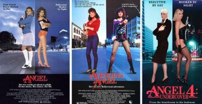 """Filmplakate zu """"Angel"""", """"Angel kehrt zurück"""" und """"Angel 4: Undercover"""""""