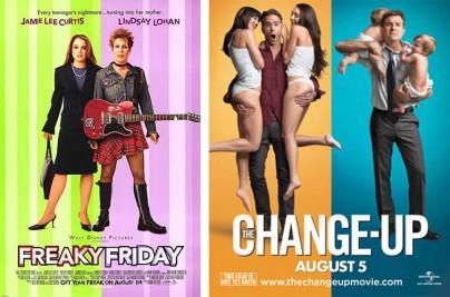 """""""Freaky Friday - Ein voll verrückter Freitag"""" und """"The Change-Up"""" (Wie ausgewechselt)"""
