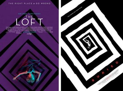 """Filmplakate von """"Loft"""" und """"Buried"""""""