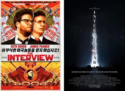 """Filmplakate zu """"The Interview"""" und """"Interstellar"""""""